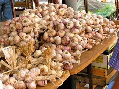 Knoblauch Markt