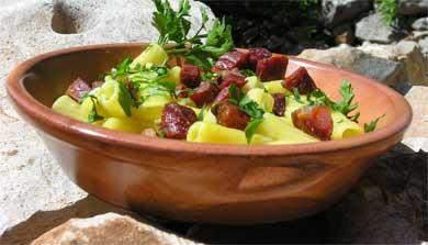 Algarve Rezept Chourico mit Pasta