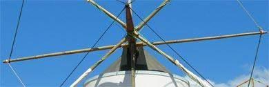 Windmuehlen in der Algarve und Alentejo